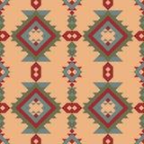 部族无缝的印地安样式 设计几何 皇族释放例证