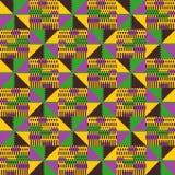 部族无缝的样式 几何非洲样式 皇族释放例证