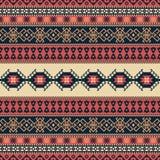 部族无缝的样式 设计几何 皇族释放例证