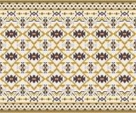 部族无缝的样式 设计几何 库存例证