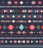 部族无缝的样式 库存照片