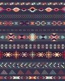 部族无缝的样式 库存图片