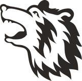 部族熊头 免版税库存图片