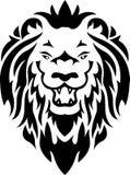 部族狮子的纹身花刺 免版税库存照片