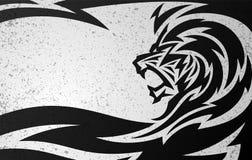 部族狮子设计 免版税库存图片