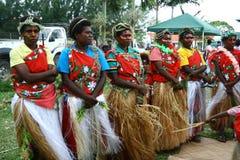 部族瓦努阿图村庄妇女 图库摄影