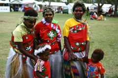 部族瓦努阿图村庄妇女 免版税库存图片