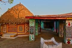 部族的小屋 库存图片
