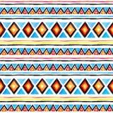 部族的模式 无缝的几何背景-部族装饰品 水彩 免版税库存图片