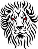 部族的狮子 免版税库存照片
