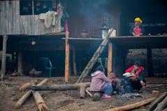 部族的生活 免版税库存图片