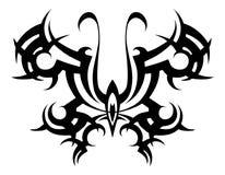 部族的纹身花刺 部族的传染媒介 钢板蜡纸 蝴蝶抽象黑白色 设计 装饰品 摘要 免版税库存照片