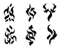 部族的纹身花刺 库存照片