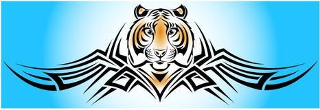 部族的老虎 免版税库存图片