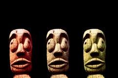 部族的雕塑 库存照片
