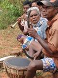 部族的音乐家 免版税库存照片