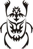 部族神圣的金龟子的纹身花刺 库存图片
