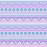部族种族无缝的条纹样式 向量 向量例证