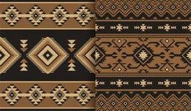 部族种族无缝的样式 设计几何 库存图片