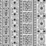 部族种族无缝的样式 免版税库存图片