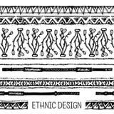 部族种族无缝 黑白颜色 对邀请,网,纺织品,墙纸,包装纸 库存图片