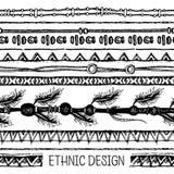 部族种族无缝 黑白颜色 对邀请,网,纺织品,墙纸,包装纸 向量例证