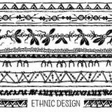 部族种族无缝 黑白颜色 对邀请,网,纺织品,墙纸,包装纸 图库摄影