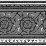 部族种族条纹无缝的样式 向量例证