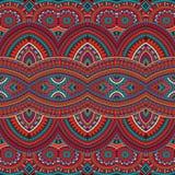 部族种族背景无缝的样式 库存图片
