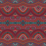 部族种族背景无缝的样式 免版税图库摄影