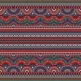 部族种族背景无缝的样式 图库摄影