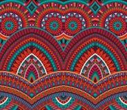 部族种族背景无缝的样式 免版税库存照片