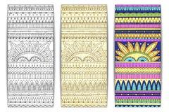 部族纹理卡片 库存图片