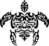 部族纹身花刺乌龟 免版税库存照片