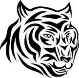 部族老虎的面孔 库存图片