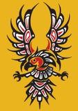 部族老鹰的纹身花刺 库存图片