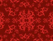 部族背景伯根地酒红色的滚动 免版税库存照片