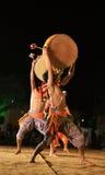 部族舞蹈印第安的显示 库存图片