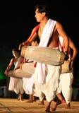 部族舞蹈印第安的显示 图库摄影