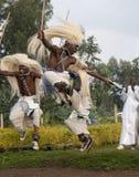 部族舞蹈演员的sacola 免版税库存照片