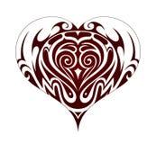 部族艺术心脏形状纹身花刺 库存图片