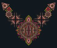 部族艺术boho手拉的几何样式 免版税库存照片