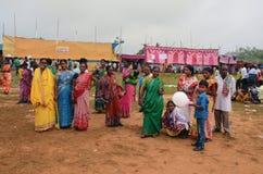 部族节日在印度 库存照片