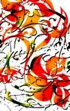 部族花卉的纹身花刺 免版税库存照片