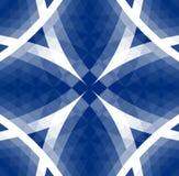 部族蓝色的模式 免版税库存图片