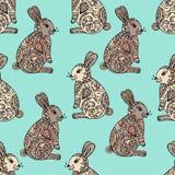 部族被设计的兔宝宝 向量例证