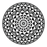 部族阿兹台克几何样式或印刷品在圈子 免版税库存图片