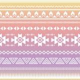 部族阿兹台克ombre无缝的样式 图库摄影