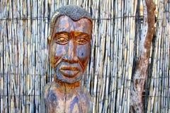 部族非洲木雕雕象市场,纳米比亚 免版税库存照片