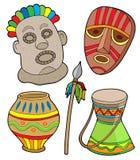 部族非洲的收藏 免版税库存图片